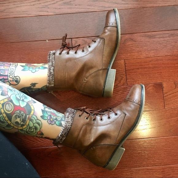 Brown Lace Up Combat Boots Kohls | Poshmark